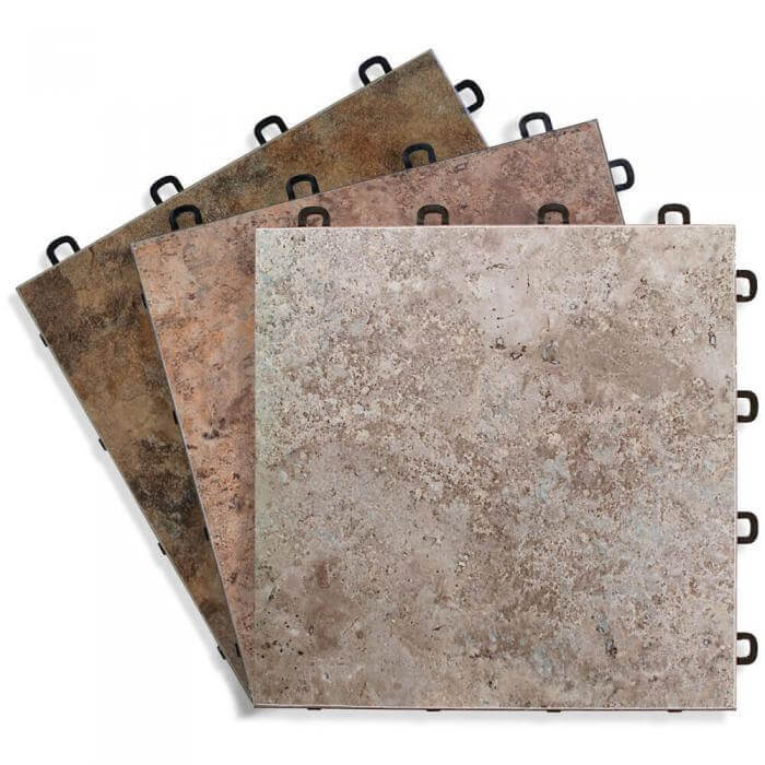 Sandstone Vinyl Top Interlocking Floor Tile