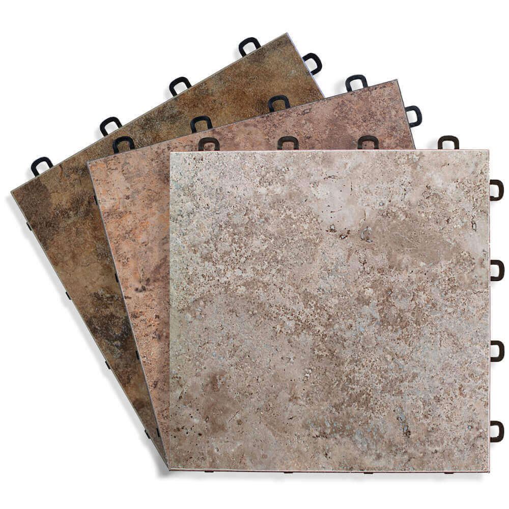 Sandstone Vinyl Top Interlocking Floor Tile Blocktile