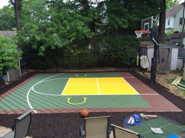 Backyard Basketball Court Ideas - Four Squares