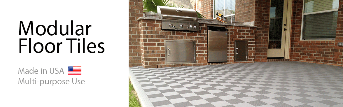 BockTile Patio & Deck Perforated Interlocking Floor Tiles