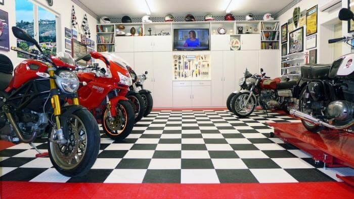 Coin Top Interlocking Floor Tiles - Garage Flooring