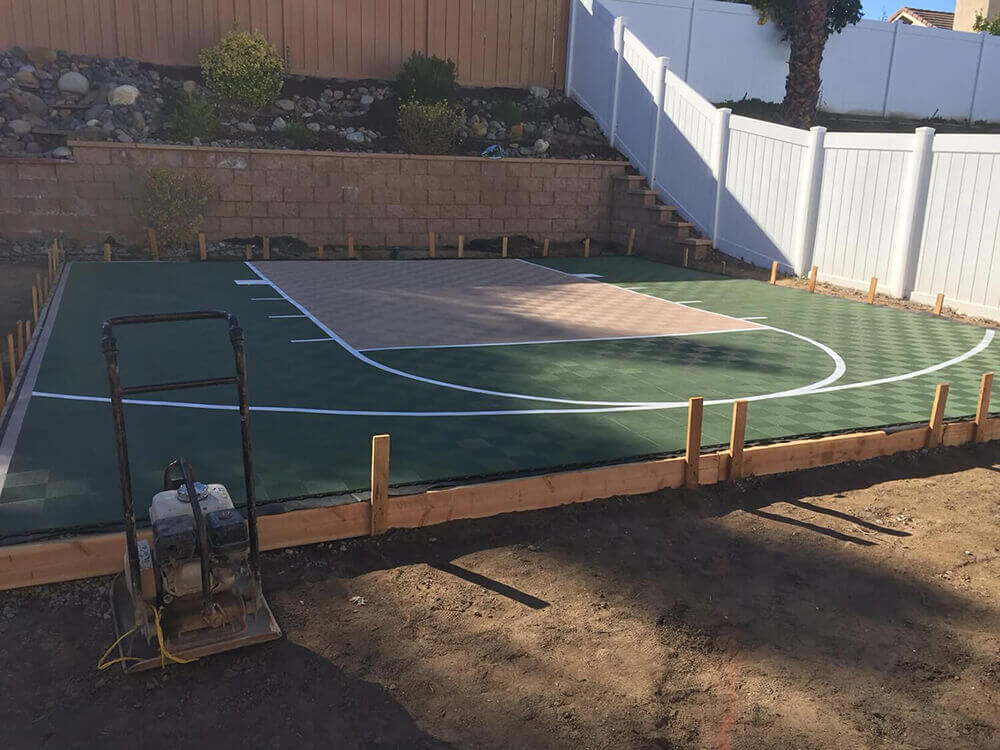 Backyard Basketball Court Ideas Picture Gallery From