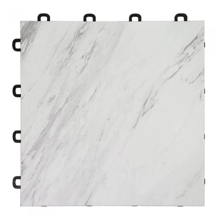 white marble vinyl top interlocking floor tiles