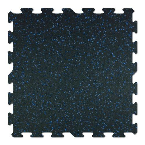 interlocking rubber floor tiles blue fleck center